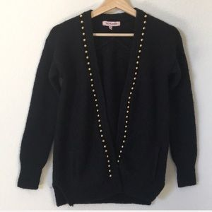 Juicy couture | studded open knit cardigan jacket